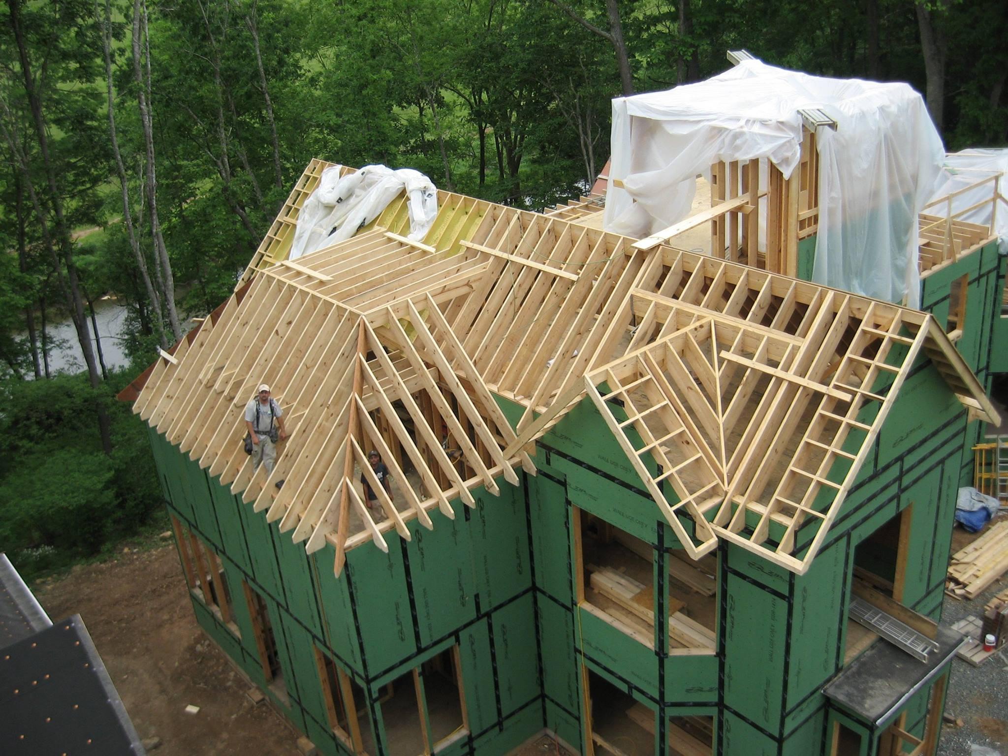Casa construccion bastidores madera