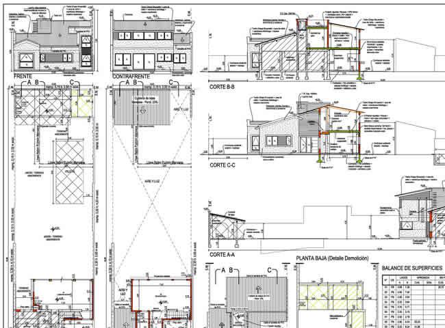 Plano municipal expediente de obra (reforma + ampliación)