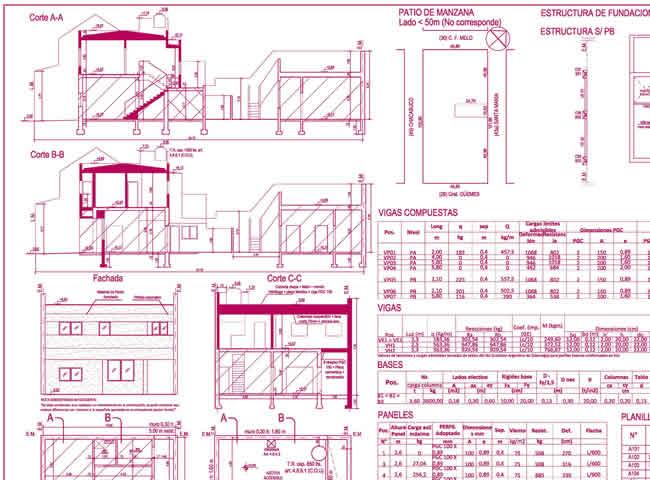Obra sin permiso municipal estudio arq carlos paredes for Planos de obra civil