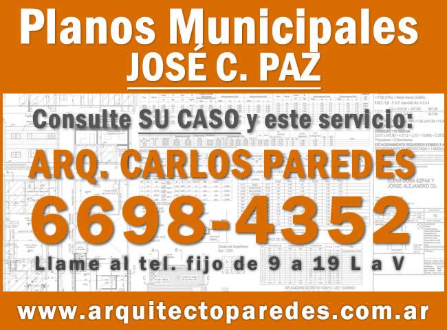 Planos Municipales Partido de José C. Paz. Arq Carlos Paredes.