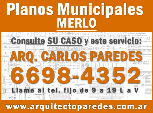 Planos Municipales Merlo. Arq Carlos Paredes. Consulte su caso
