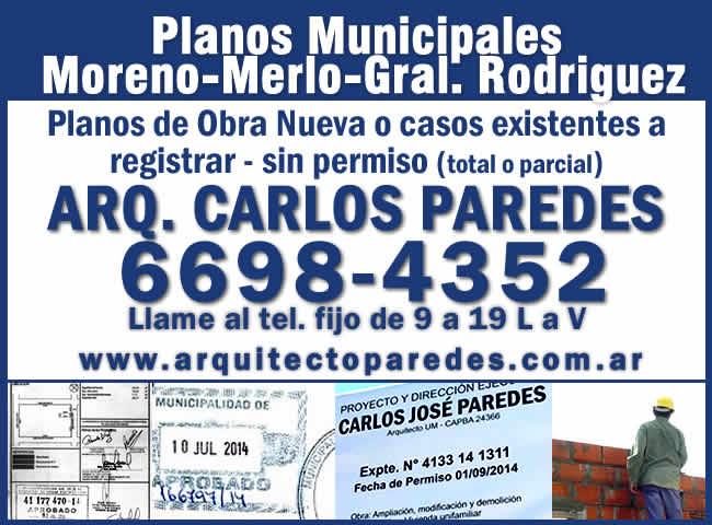 Planos Municipales Partidos de Moreno, Merlo y General Rodriguez.